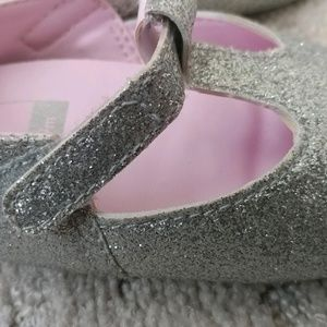 Brand new Baby silver soft soled shoes